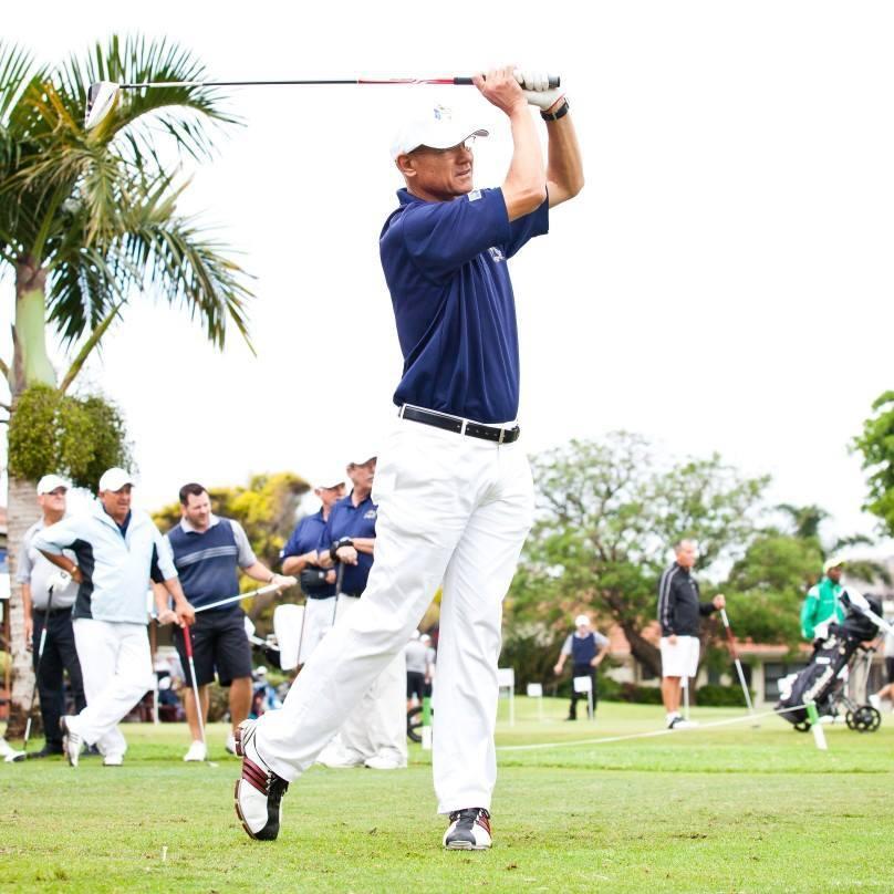 Antony playing golf